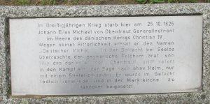 Gedenktafel / Obentrautdenkmal in Seelze